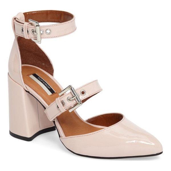 TOPSHOP gusto d'orsay pump - Wide straps cinched with roller buckles provide edgy...