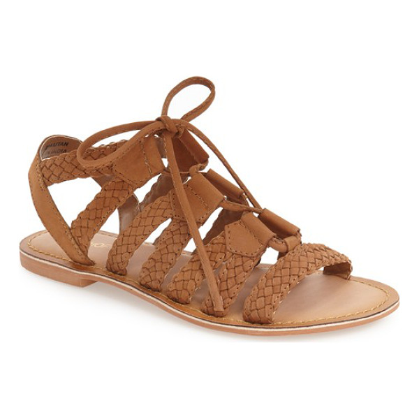 TOPSHOP hiccup ghillie sandal - Woven leather straps and thin laces define a trend-right...