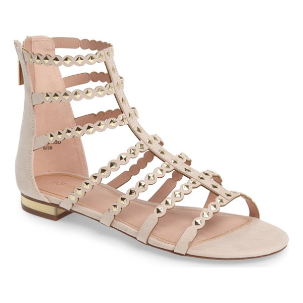TOPSHOP higher stud gladiator sandal - Get the complete weekend-warrior uniform with faux suede