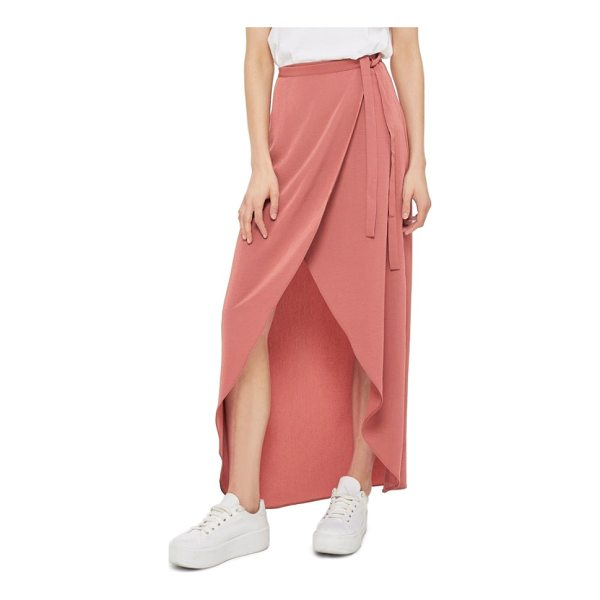 TOPSHOP high/low wrap maxi skirt - Retain effortless elegance day or night in this fluttery...