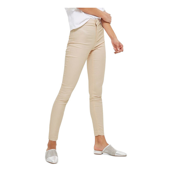 TOPSHOP joni shimmer skinny jeans - Pastel skinny jeans have never looked sweeter than with a...