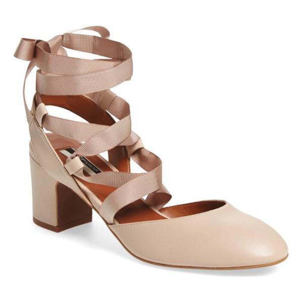 TOPSHOP jostle wraparound ballet pump - Grosgrain ribbons wrap around the ankle of a block-heel