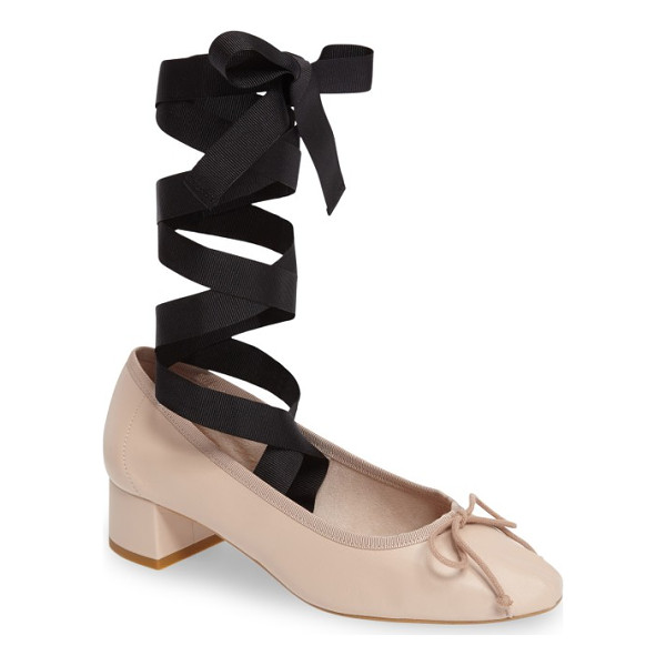 TOPSHOP kan-kan ankle tie pump - Wide grosgrain ribbons wrap around your ankle and extend...