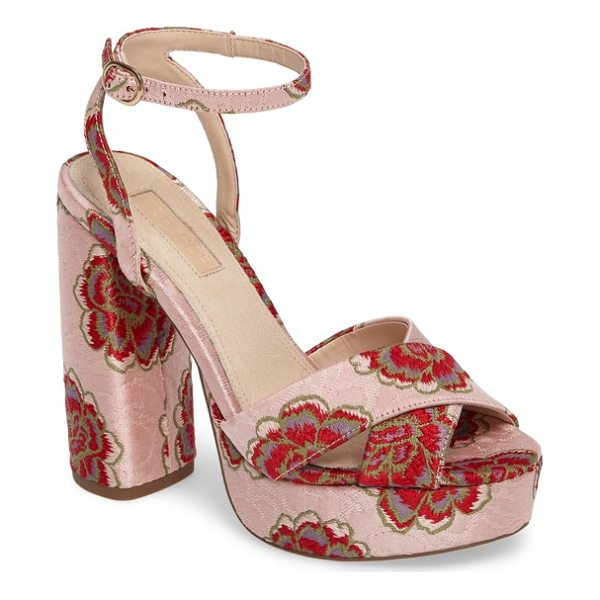 TOPSHOP lollie embroidered sandals - Embroidered flowers heighten the glamorous appeal of a...