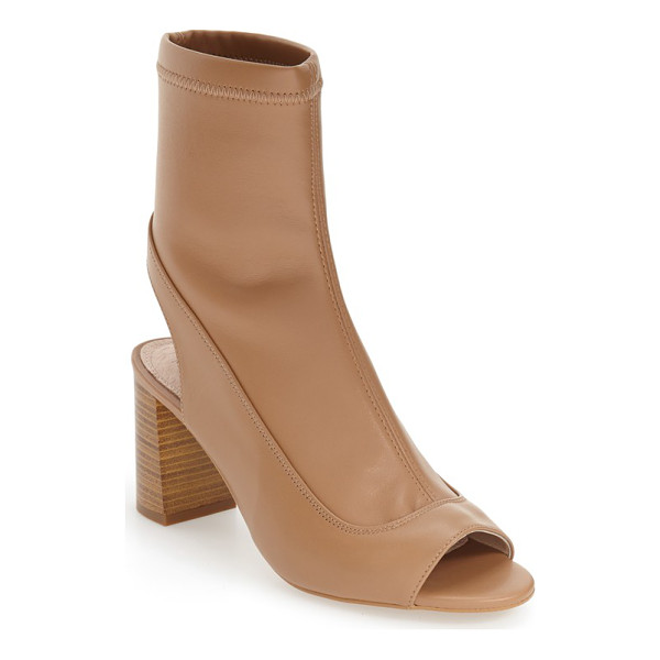 TOPSHOP 'melon' cutout stretch bootie - A retro-inspired heel grounds a modern cutout bootie fitted