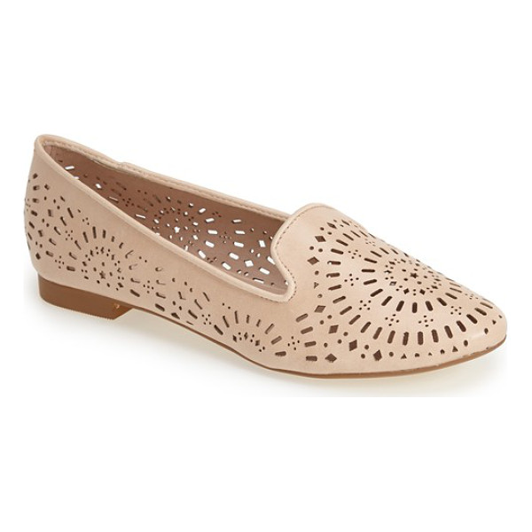TOPSHOP misty perforated flat - Pretty perforations twirl all across a faux-leather flat...