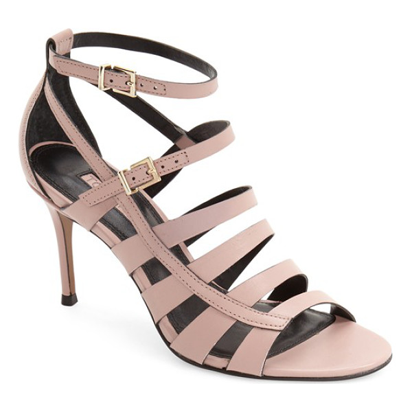 TOPSHOP ninety strappy sandal - Slim leather straps cross atop a sultry sandal set on an...