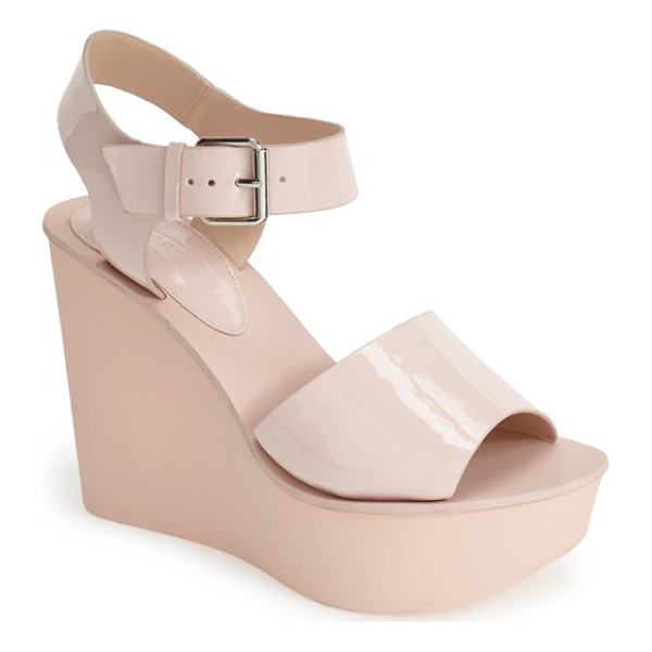 TOPSHOP platform wedge sandal - Add a retro twist to any ensemble with a standout two-strap...
