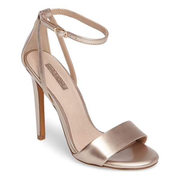 TOPSHOP raphael new genuine calf hair sandal - Genuine calf hair details the toe and heel of this barely...