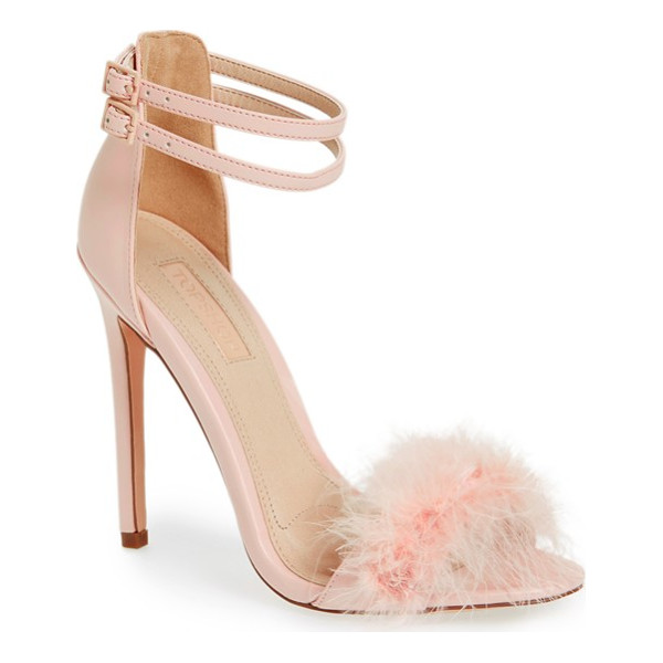 TOPSHOP 'reese' feather sandal - Soft marabou feather trim dials up the drama on a
