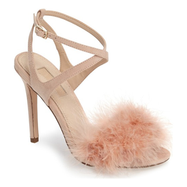 TOPSHOP reine feathered sandal - Soft fluffy feathers respond playfully to every breeze and...