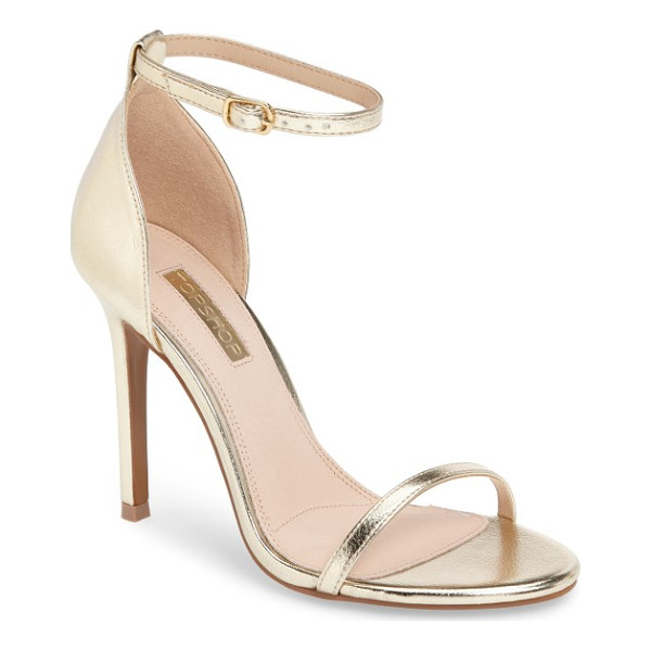 TOPSHOP rosalie ankle strap sandal - A slim ankle strap brings on-trend elegance to a barely