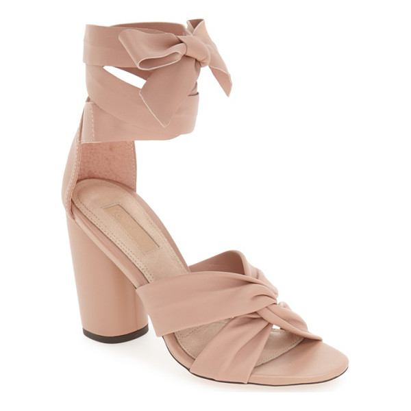 TOPSHOP 'rosetta' soft knot wraparound sandal - Soft, intertwined leather straps define the toe of this...
