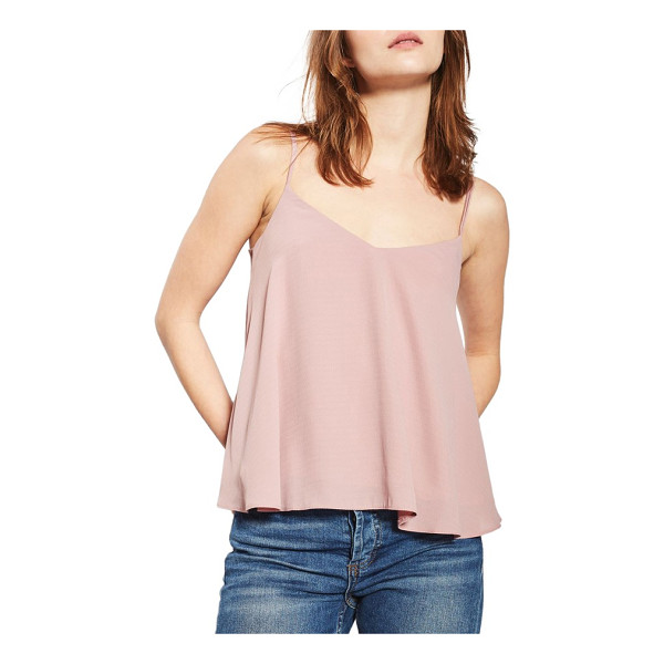 TOPSHOP rouleau swing camisole - Enticing thin straps sway from behind of the drapey,...