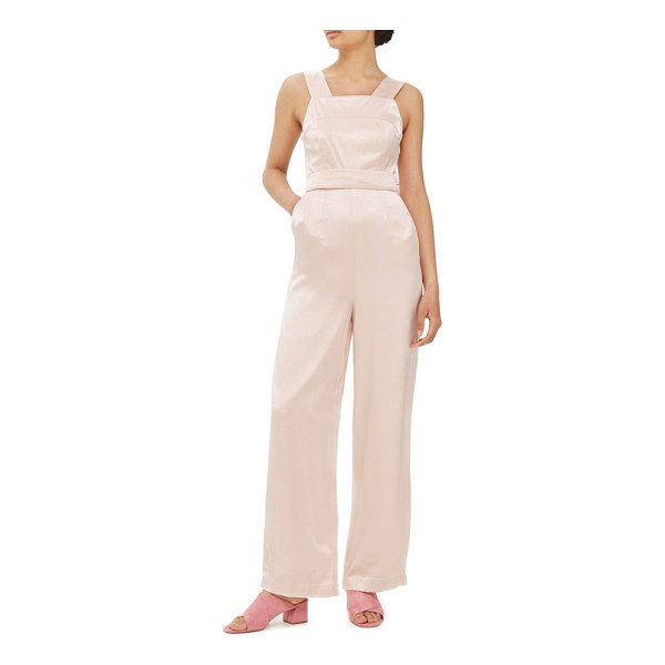 TOPSHOP strap back satin jumpsuit - Femininity for the modern day, this pretty satin jumpsuit...