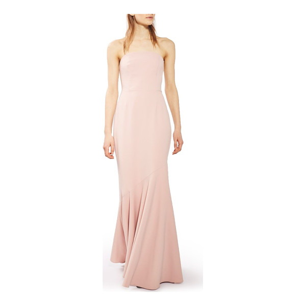 TOPSHOP strapless crepe gown - A bias-cut hemline ripples like a mermaid tail as you...