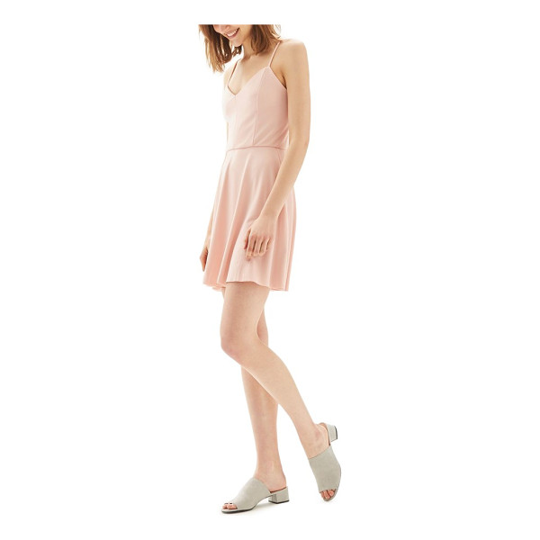 TOPSHOP strappy skater minidress - Dress for the weather you want in this darling...