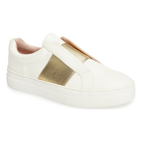 TOPSHOP tangle trainer sneaker - A golden elastic band takes the place of laces on a...