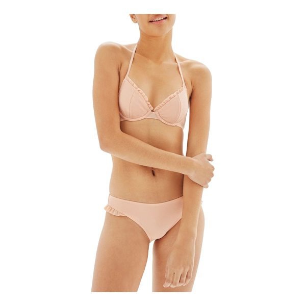 TOPSHOP textured frill bikini bottoms - Frilly ruffles tickle the legs in a low-slung bikini bottom...