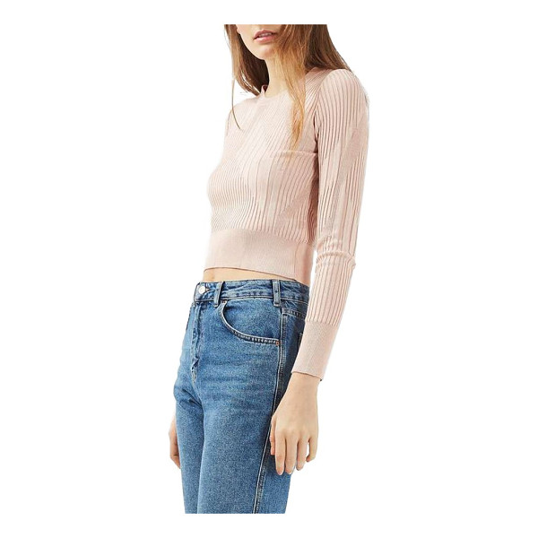 TOPSHOP variegated rib sweater - Ribbing with a mix of angles and widths refreshes a sweater...