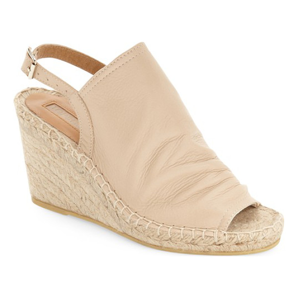 TOPSHOP weekend espadrille wedge - A supple, crinkled-leather vamp adds a bit of street-chic...
