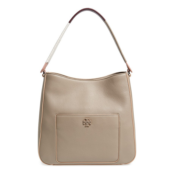 TORY BURCH Berkeley hobo - Contrast-painted edges and a wrapped, color-spliced...