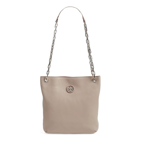 TORY BURCH Convertible leather crossbody bag - Whipstitched trim highlights the goldtone logo medallion of...