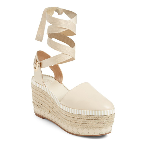 TORY BURCH dandy platform espadrille - A lofty platform dials up the vintage sophistication of a