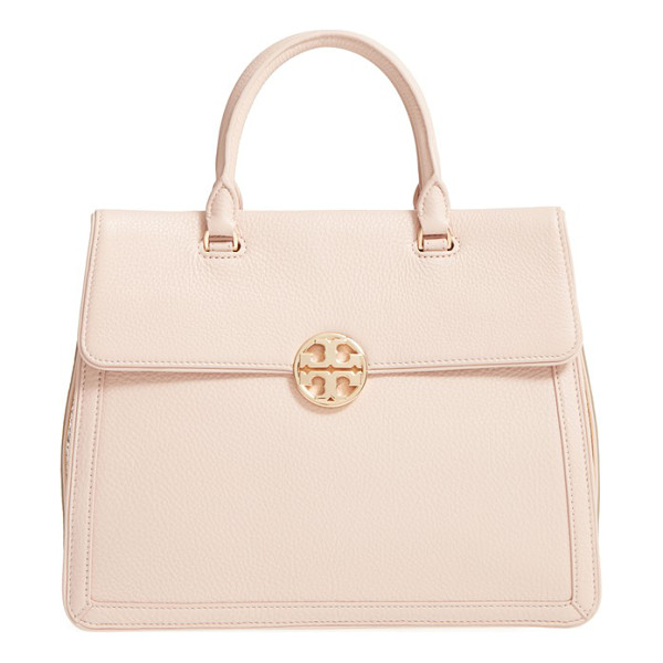 TORY BURCH Duet leather satchel - Contrast gussets add striking modern style to a structured...