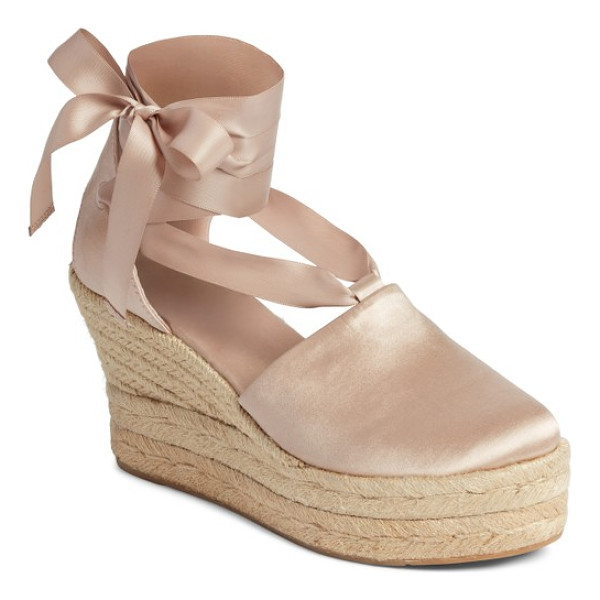 TORY BURCH elisa espadrille wedge - Refined and rustic influences meet in a lush velvet sandal...
