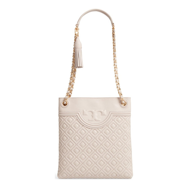TORY BURCH fleming swingpack crossbody bag - Intricate diamond quilting and logo embossing distinguish a...