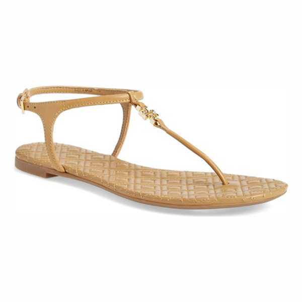 TORY BURCH 'marion' quilted sandal - A quilted medallion and footbed underscore the refined...