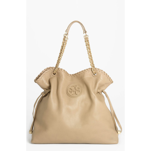 TORY BURCH Marion slouchy tote - An upscale blend of bling and boho defines a spacious...
