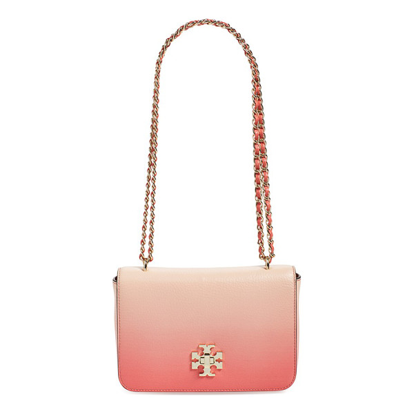 TORY BURCH Mercer convertible leather shoulder bag - A logo medallion and a stunning ombre finish define a...