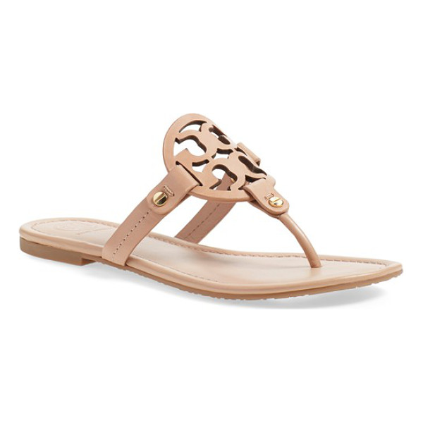 TORY BURCH 'miller' flip flop - A breezy, cleanly styled flip-flop features a bold logo...