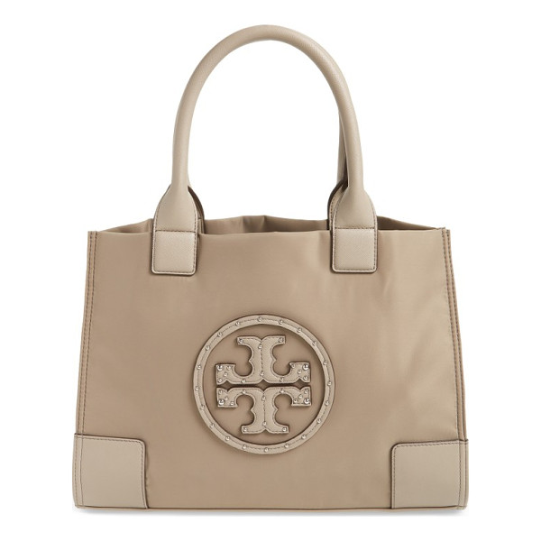 TORY BURCH mini ella studded nylon tote - A classic tote is crafted from durable nylon and completed...