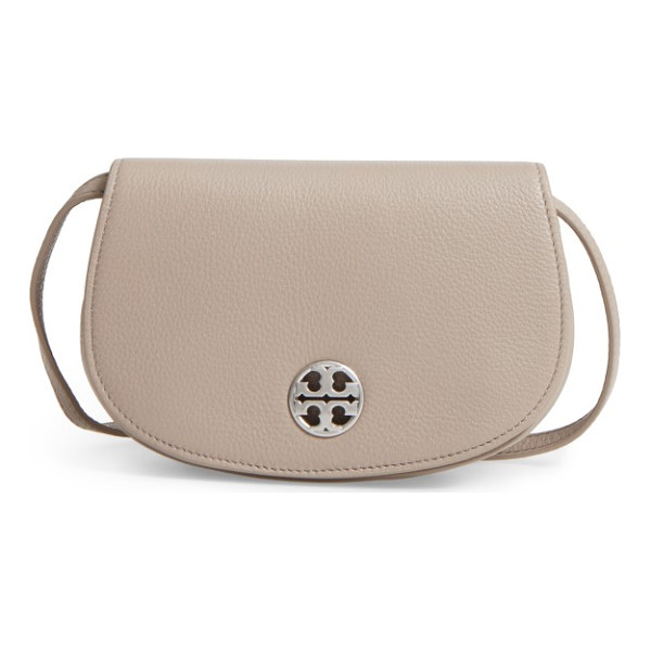 TORY BURCH mini jamie leather crossbody bag - A curved silhouette adds subtle equestrian influence to a...