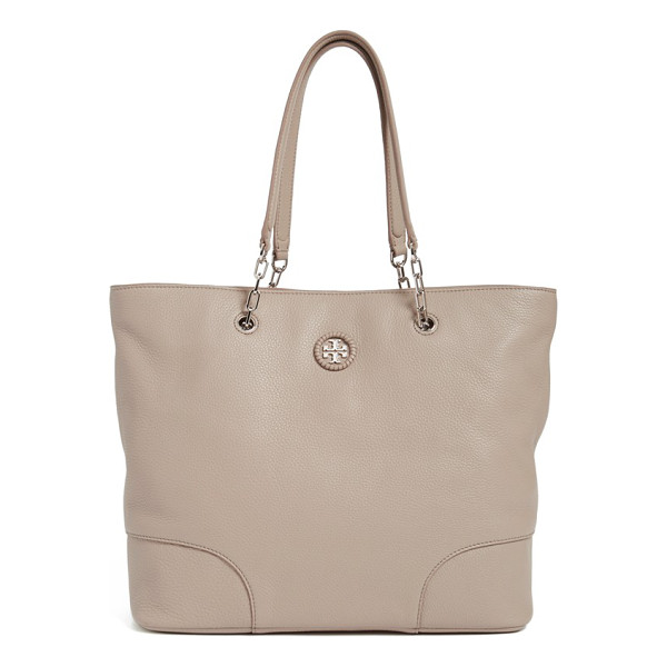 TORY BURCH Pebbled leather tote - Polished enough for the workplace and convenient enough for...