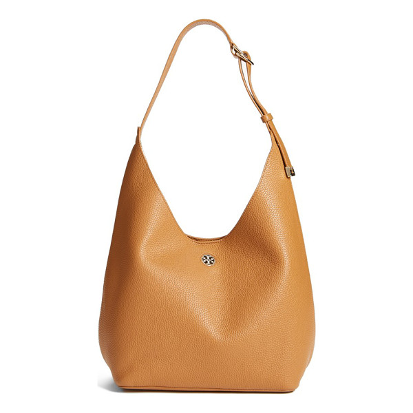 TORY BURCH 'perry' leather hobo - Logo insignia polishes a roomy, sophisticated hobo crafted...