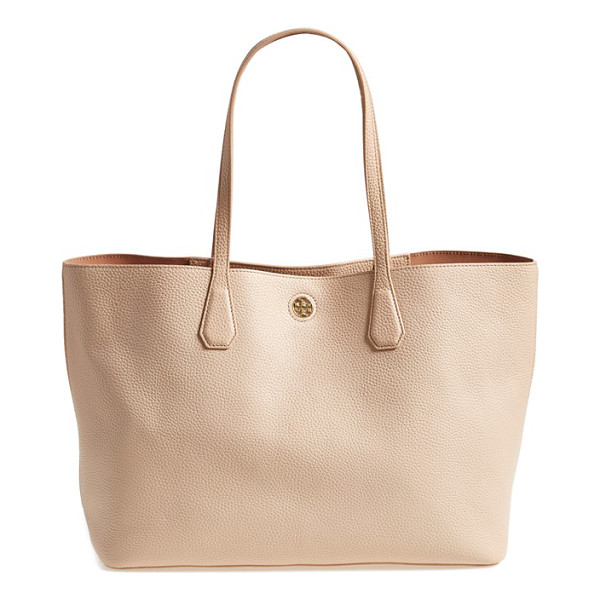 TORY BURCH Perry leather tote - Finely grained leather composes a modern, minimalist tote...