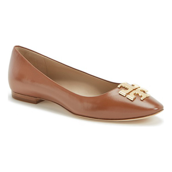 TORY BURCH raleigh leather flat - Effortlessly elegant and easy to coordinate, this leather...