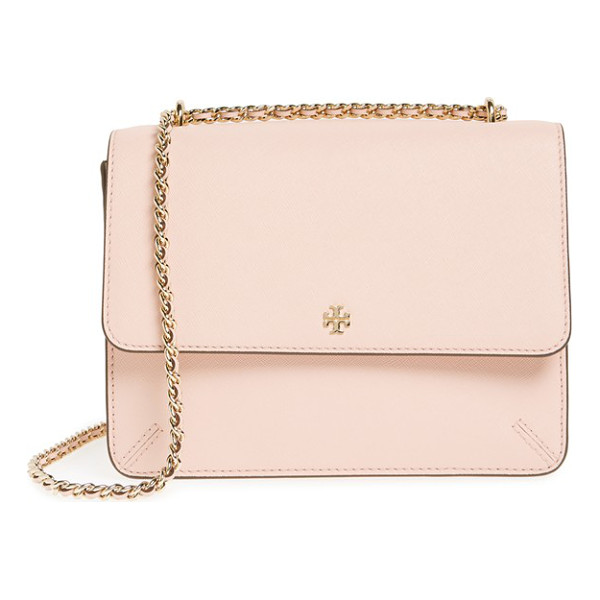 TORY BURCH Robinson convertible leather shoulder bag - Painted edges highlight the sleek structure of a perfectly...