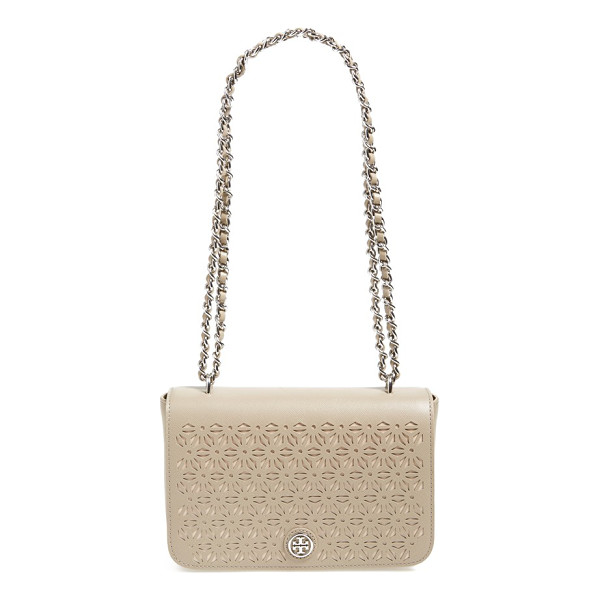 TORY BURCH Robinson perforated leather shoulder bag - Perforated leather looks so fresh on this pristine shoulder...