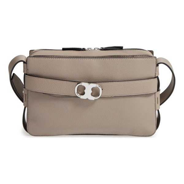 TORY BURCH small gemini belted leather camera bag - A lightly structured bag topped with an adjustable