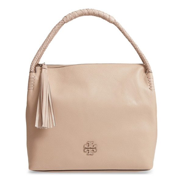 TORY BURCH taylor leather hobo bag - Understated vintage style is the name of the game with this...