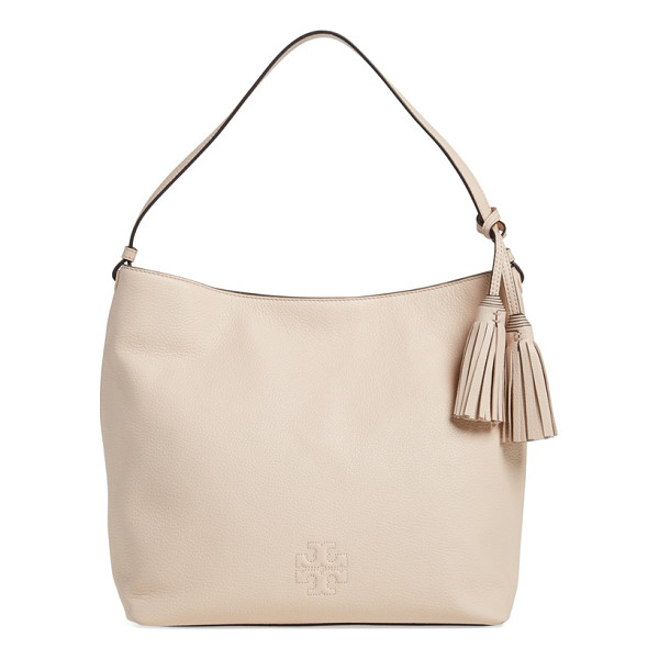 TORY BURCH Thea leather hobo - A slouchy hobo is cut from rich, lustrous pebbled leather...