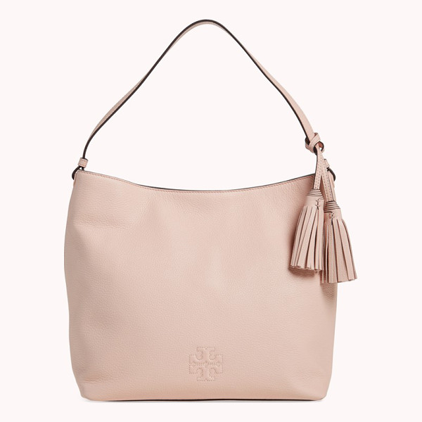 TORY BURCH Thea leather hobo - An everyday hobo is cut from rich, lustrous pebbled leather...