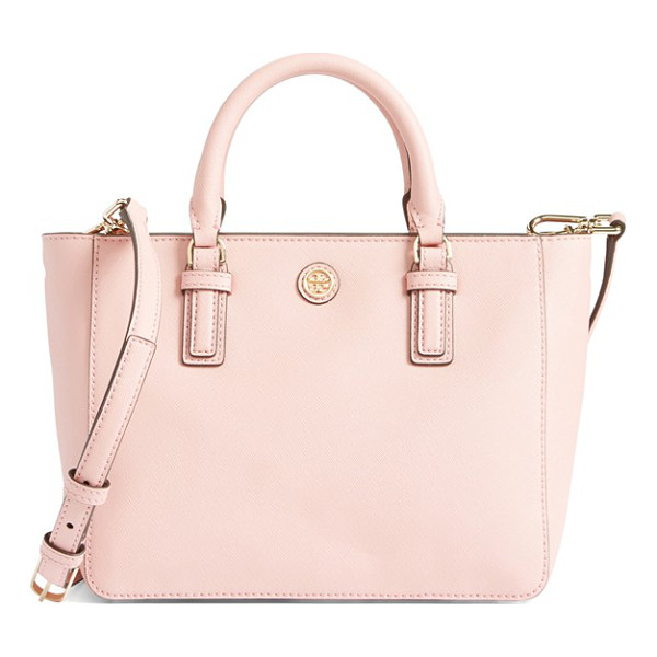 TORY BURCH Robinson mini square tote - This petite version of Tory Burch's signature Robinson tote...