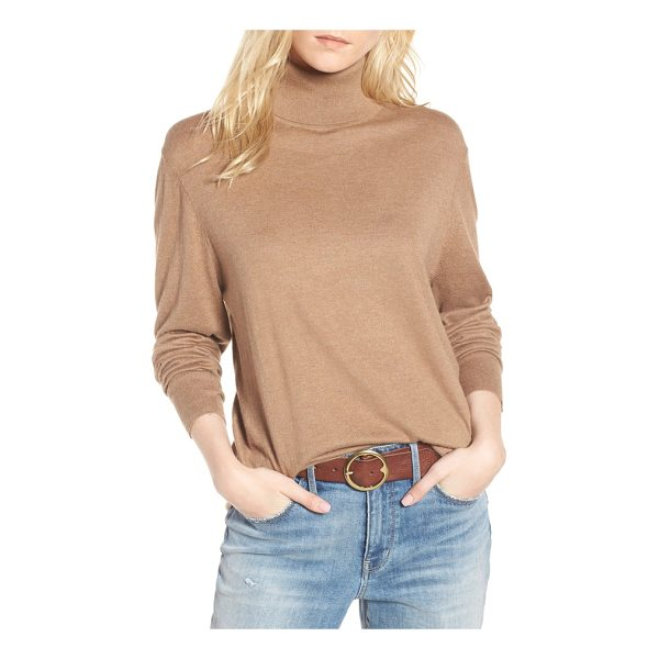 TREASURE & BOND boyfriend turtleneck sweater - Relaxed enough for him but made in mind for you, this...