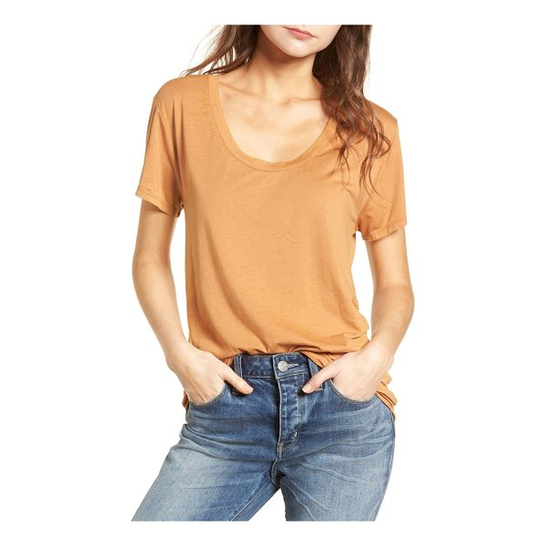 TREASURE & BOND burnout boyfriend tee - Ultrasoft and drapey, this oversized scoop-neck tee is...